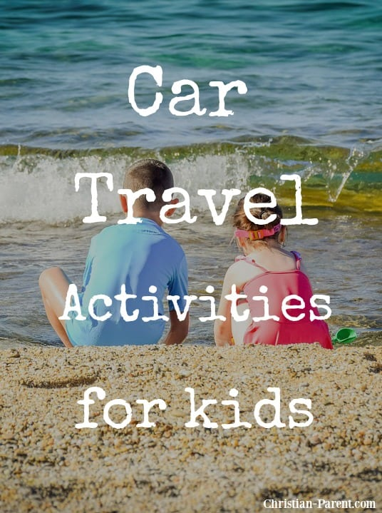 Fun car travel activities for kids for long road trips.