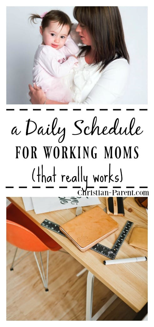 A sample daily schedule for Christian moms who work outside the home. Can everything get done every day?