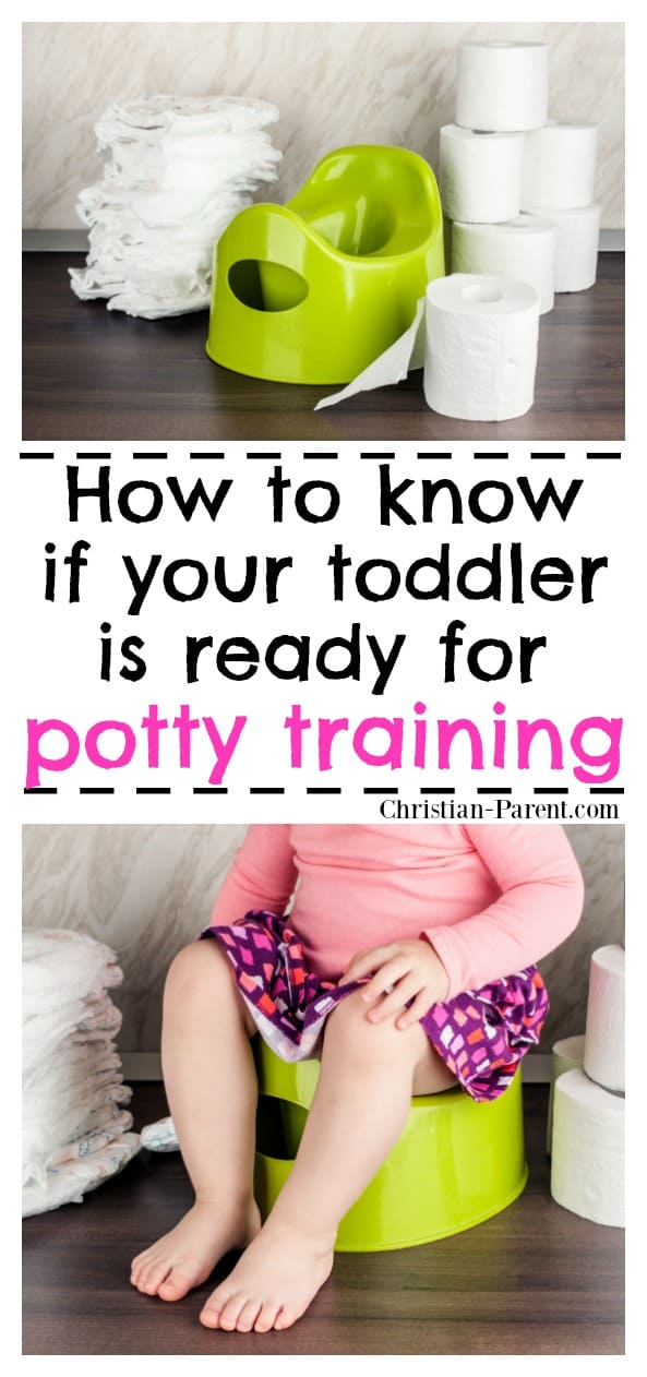 Best potty training tips! How to recognize the signs that your toddler is ready for potty training.