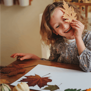 Fun fall leaf activities and easy fall crafts for preschool kids.