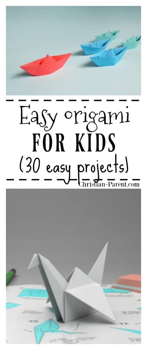 Easy origami for kids. 30 easy DIY projects.