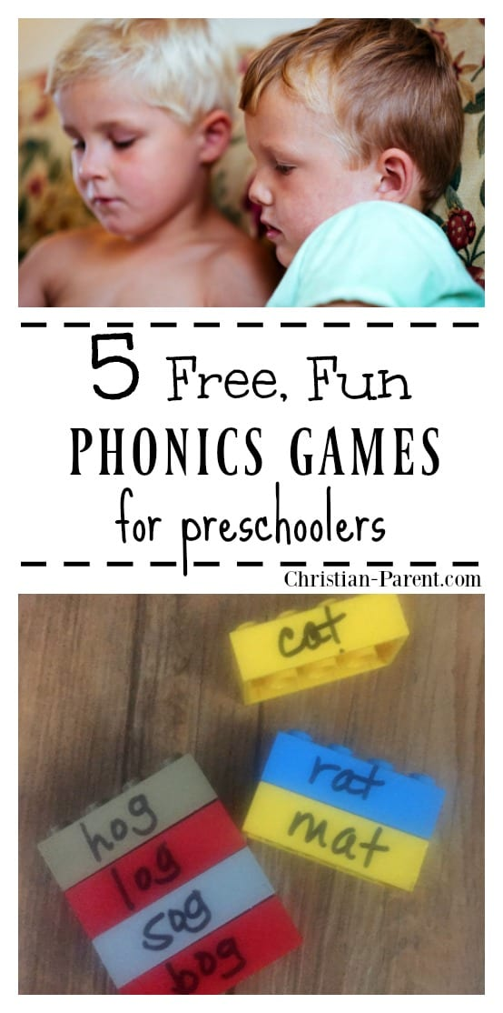 Five fun phonics games and activities to help your preschool aged child get ready to read. Teach phonic sounds, sight words, beginning sounds, and more.