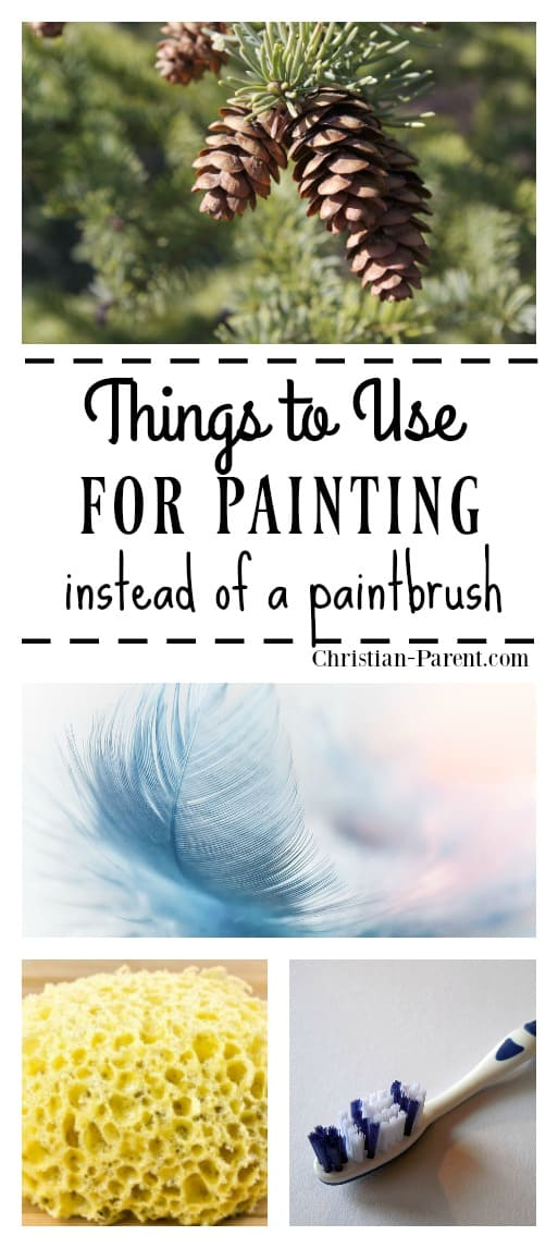 Creative things you or your child can use to paint with instead of a paint brush.