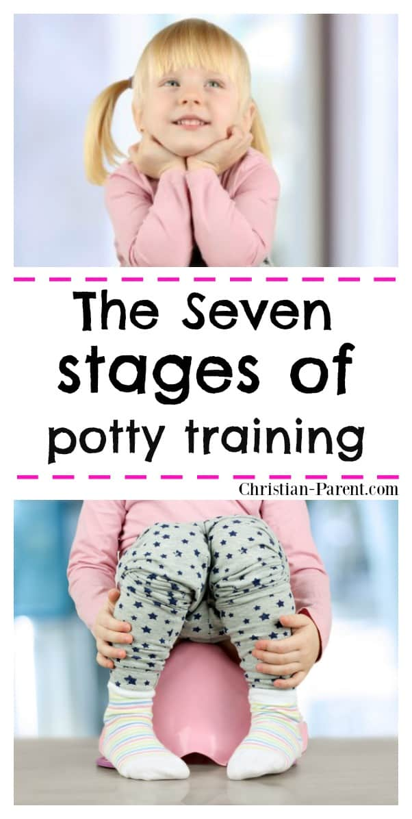 From signs of readiness to using the potty alone, the seven stages of potty training for toddlers explained.