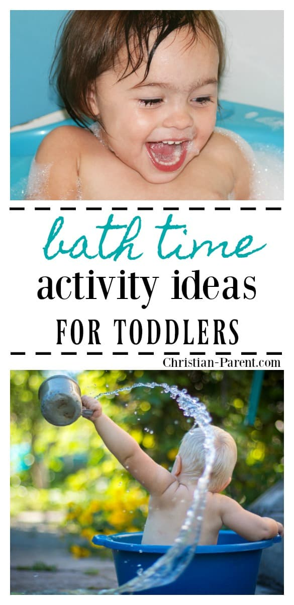 Toddler bath time activity ideas! Thirteen fun, creative ideas for keeping your toddler busy during bath time.