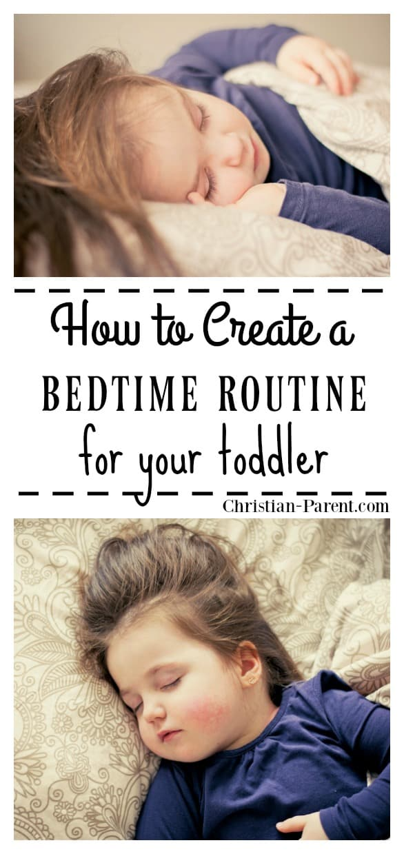 Easy nighttime routine that will help get your toddler ready to go to bed.