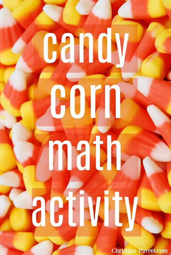 Fun candy corn math activity for preschool or kindergarten. One of my favorite candy corn math activities!