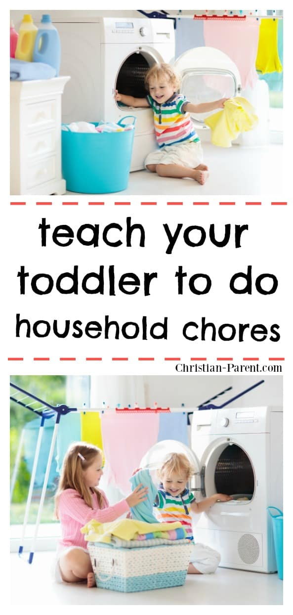 Easy tips for teaching your toddler to household chores (that actually work).