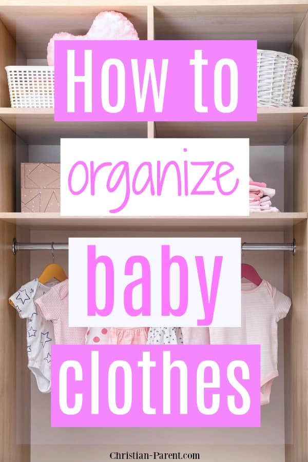 Clever tips for organizing baby clothes piled up in your baby's dresser or closet.
