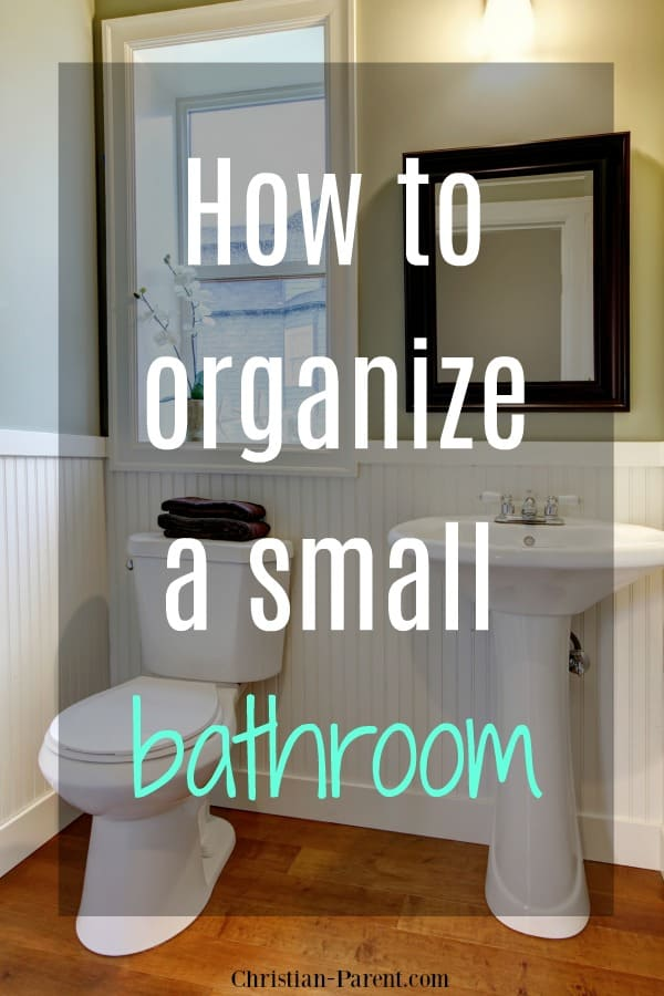 Clever DIY tips for organizing a small bathroom. Creative deas for clearing off your cluttered bathroom countertops!
