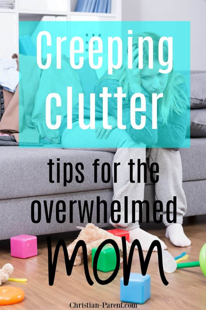 Quick organizing tips to help the overwhelmed mom get the clutter in her home under control.